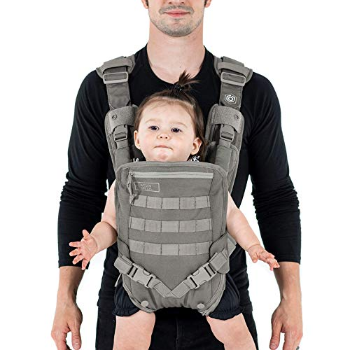 Men's Baby Carrier - Front -for Dads - by Mission Critical - Gray