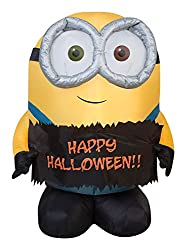 Gemmy Airblown Inflatable Bob The Minion Holding Happy...