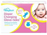 Diaper Changing Gloves + Dirty Diaper Bag (2 in 1) BabyBum Glove-Saks (50 pcs)