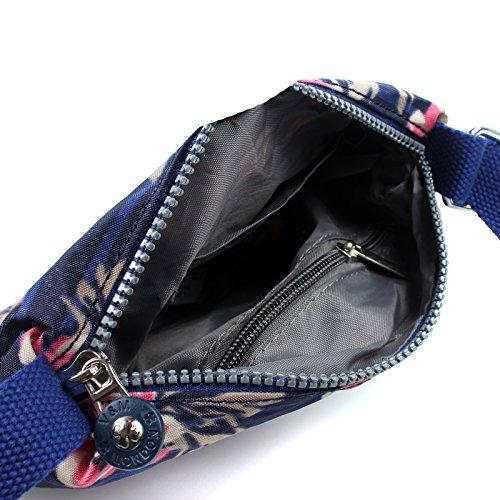 Body Ladies Pocket Multiple Shoulder Zip Purple Bag Lightweight Aossta Cross Messenger B8Cwqwd