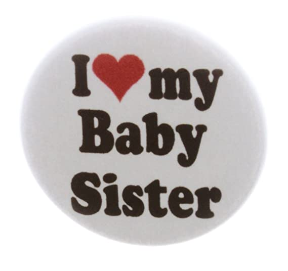 Amazoncom At Designs I Love My Baby Sister 225 Keychain Little