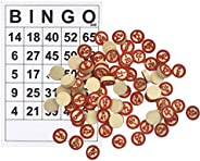Bingo Cards Board Games for Family Friends and Large Parties, Bingo Set with 40 Cards and 75 Playing Pieces -