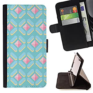 - Queen Pattern FOR Samsung Galaxy S4 IV I9500 /La identificaci????n del cr????dito ranuras para tarjetas tir????n de la caja Cartera de cuero cubie - polygon cute pattern gem pin