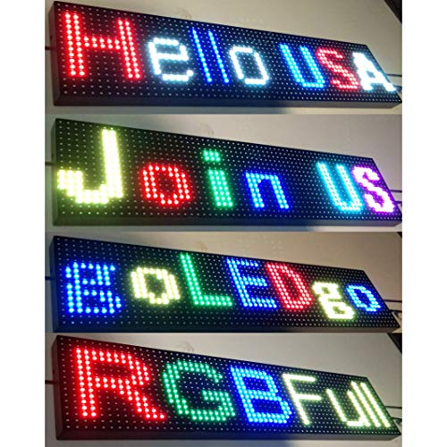 Display Scrolling Message Led Sign - goLEDgo RGB FULL COLOR LED SIGN Splash WaterProof Programmable Scrolling LED Message Marquee Sign