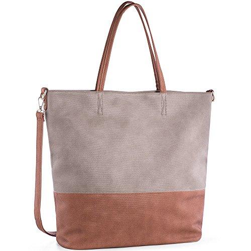 Women Handbags PU Leather Shoulder Bag Top-Handle Satchel Tote Bag Purse Large Capacity (Purse Tote)