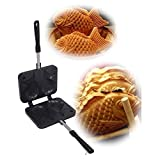 New Taiyaki Japanese Fish-shaped Cake Waffle Pan Maker 2 Cast Korean Street Food by Electric California