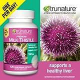 trunature Premium Milk Thistle 160 mg., 120 Vegetarian Capsules
