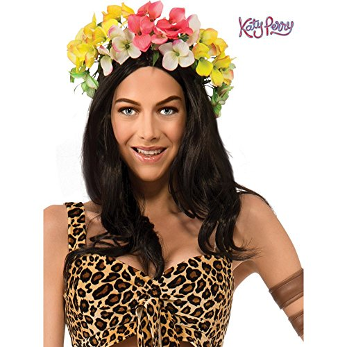 Katy Perry Costumes For Adults (Rubie's Costume Co Women's Katy Perry Roar Wig, Black, One)