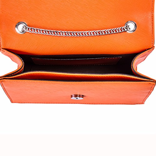 Sac à main - Cuir orange - femme