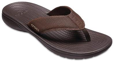 100% authentic bfcb7 c5689 Crocs Mens Bogota Flip M Brown