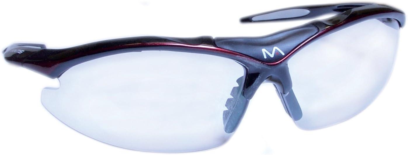 Mantis Squash - Gafas de protección, Color Negro y Rojo
