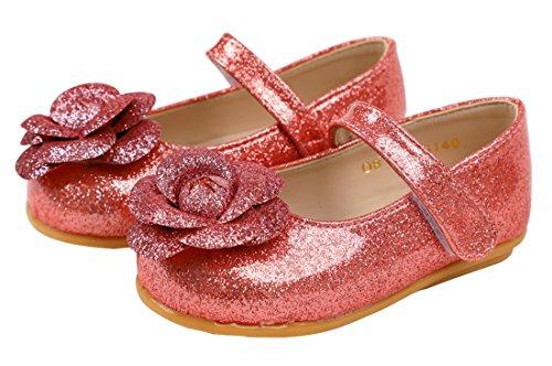 Bow Ribbon Infant red Dress Girls W207 Tie Toddler Little Ozkiz Shoes Antiskid Flat wvnfHIqH6x
