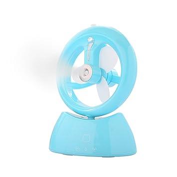Baffect® ventilador de refrigeración de la niebla portátil recargable humectador de control táctil USB mini. Pasa ...