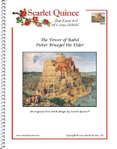 Scarlet Quince BRE003 The Tower of Babel by Pieter Bruegel Counted Cross Stitch Chart, Regular Size (Tower Of Babel Craft)