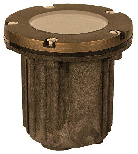 Radar Lighting DM8300BR Low-Voltage Cast-Brass Outdoor Landscape In-Ground Well Light, Bronze Finish