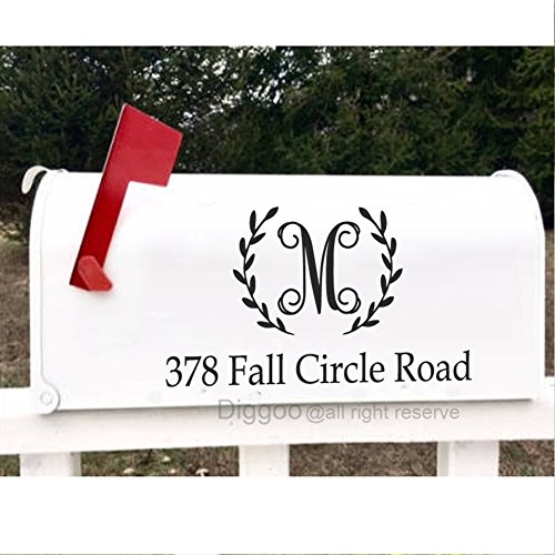 Family Mailbox (Mailbox Monogram Decal Personalized Mailbox Address Decal Mailbox Number Vinyl Lettering (8