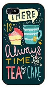 iPhone 5 / 5s There is always time for tea and cake, black plastic case / Ed Sheeran Inspirational and motivational life quotes / SURELOCK AUTHENTIC