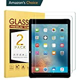 MIKEBE 2 Pack Anti-Scratch 9H Tempered Glass Screen Protector For iPad 9.7-Inch 2018 2017 Model - 6th 5th Generation - iPad Pro 9.7-Inch iPad Air 1 - iPad Air 2 Apple Pencil Compatible Bubble Free