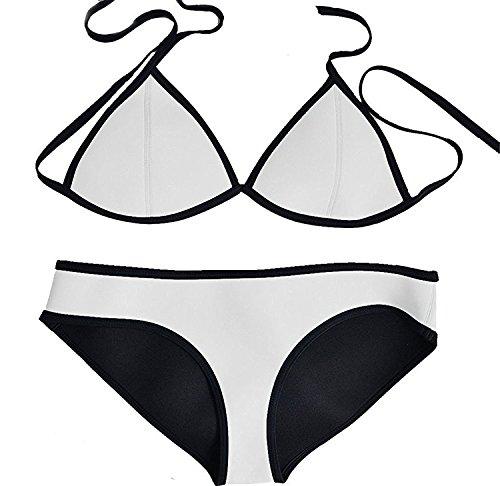 picna Wonderful Women Wet Suit Neoprene Sport Bikini Triangle Top Swimsuit Great - Style Wetsuit Bikini