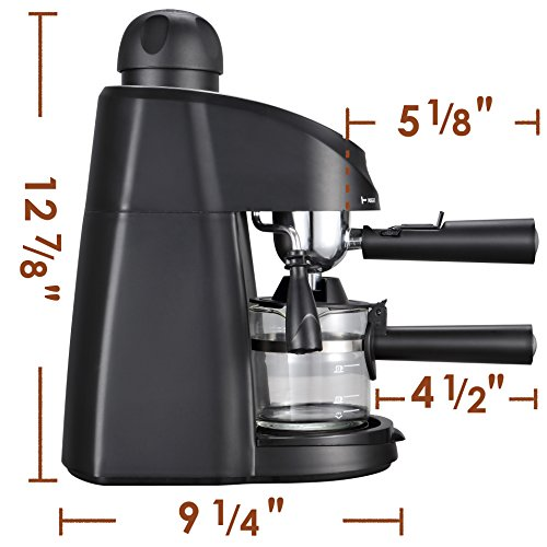 Miho CM-01A Espresso Machine 3.5 Bar Steam Cappuccino and Latte Maker Compact Design Milk Frother 4 Cups Coffee Capacity Electric 800W by Miho (Image #3)