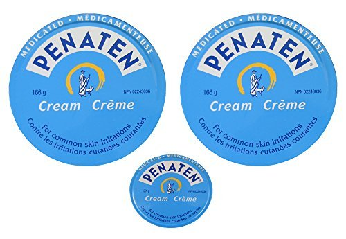 Penaten Cream Convenient Economical 3 Tin Pack, 2 Large 5.9 Ounce Tins And 1 X 0.95 Ounce Diaper Bag / Purse Size Tin (12.75 Ounce Total Content Weight) by Penaten