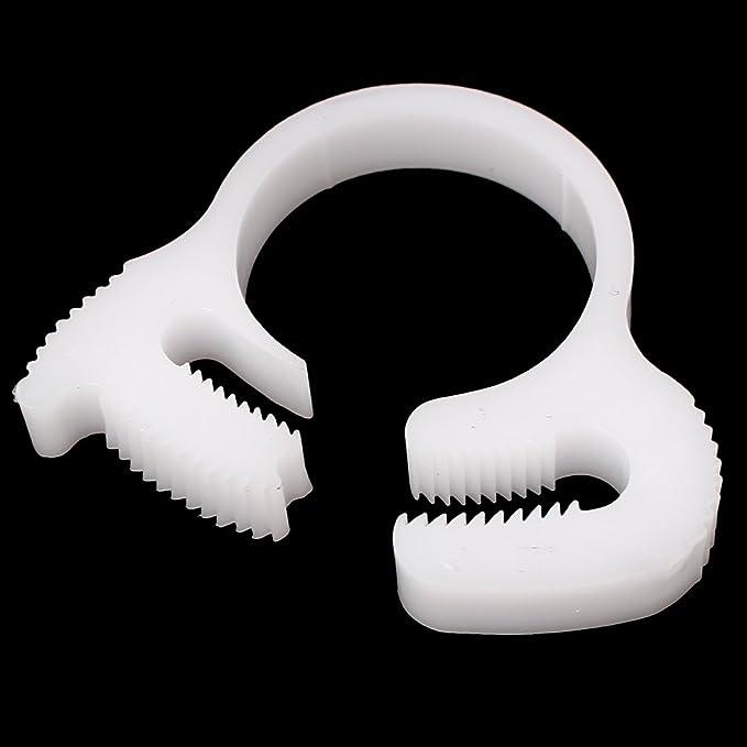 ajile Skiffy Schlauchklemmen aus Kunststoff 4 Stucke Schlauchdurchmesser 12,8-15 mm WEISS