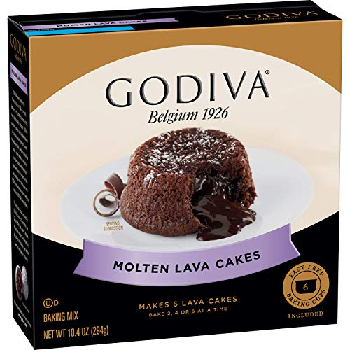 Godiva Molten Lava Cakes Baking Mix, 4 Count