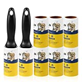 Lint Roller Pet Hair Remover - Sticky Lint Remover Rollers for Clothes Pet Hair Cat 8 Pack