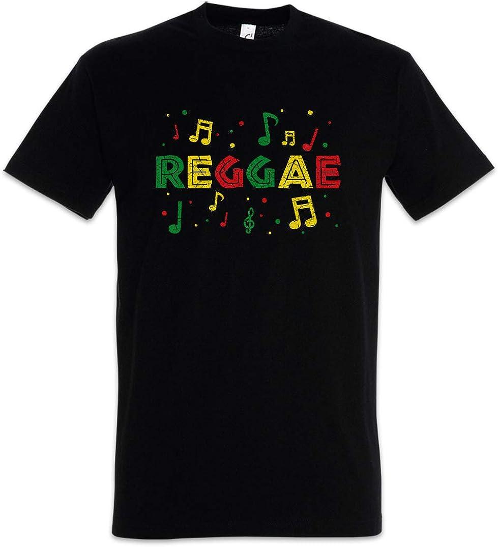 Urban Backwoods Rasta Reggae Notes Hombre T-Shirt