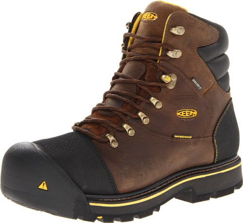 KEEN Utility Men's Milwaukee Waterproof Wide Work Boot,Dark Earth,13 D US