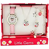 Ravel Kids Girls Owl Jewellery & Watch , Necklace Charm Bracelet Gift Set R2225
