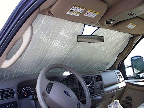 HeatShield The Original Auto Sunshade, Ford F-350 Truck (Crew Cab) 1999-2007, Silver Series