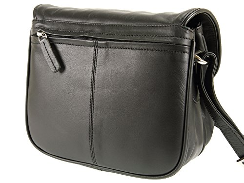 Shoulder Handbag Soft Black 2195 Across Leather Ladies Bag Visconti Body Organiser wqUpZPWnB