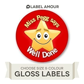 70 personalised well done teacher school reward stickers labels