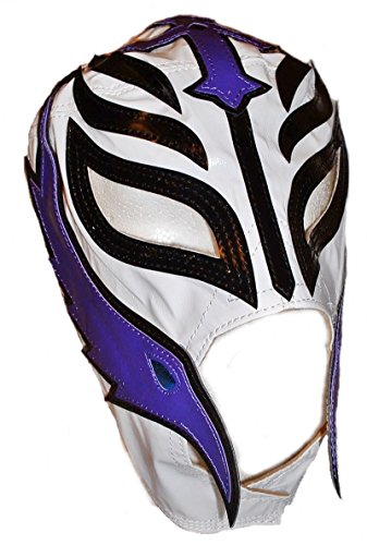 [WWE REY MYSTERIO Pro-Grade KIDS White Simulated Leather Mask] (Wwe Girl Costumes)
