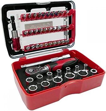 Connex COXB973946 - Caja de llaves de vaso y puntas con carraca (46 piezas): Amazon.es: Bricolaje y herramientas