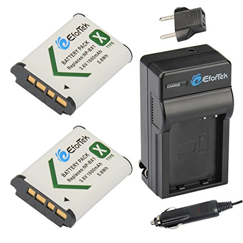 Replacement Battery (2-Pack) and Charger kit Sony , /M8 and Sony Cyber-shot DSC-H400, DSC-HX50V, DSC-HX300, DSC-HX400, DSC-RX1, DSC-RX1R, DSC-RX100, DSC-RX100 II, DSC-RX100 III, DSC-RX100M2, DSC-RX100M3, DSC-WX300, DSC-WX350, HDR-AS10, HDR-AS15, HDR-AS30V, HDR-AS100V, HDR-AS100VR, HDR-CX240, HDR-MV1, HDR-PJ275,DSC-HX90V,DSC-WX500,RX100 IV - EforTek...