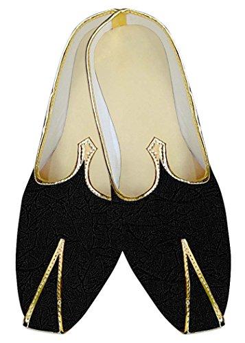 INMONARCH Hombres Boda Zapatos Auto Diseño Negro MJ12527