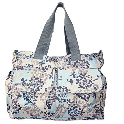 Bebamour Original Floral Designer Diaper Tote Bags - 1