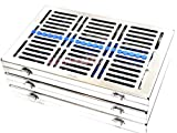 3 GERMAN HEAVY DUTY DENTAL AUTOCLAVE STERILIZATION CASSETTE TRAY FOR 20 INSTRUMENTS 11.25X7.25X1.25'' BLUE ( CYNAMED )