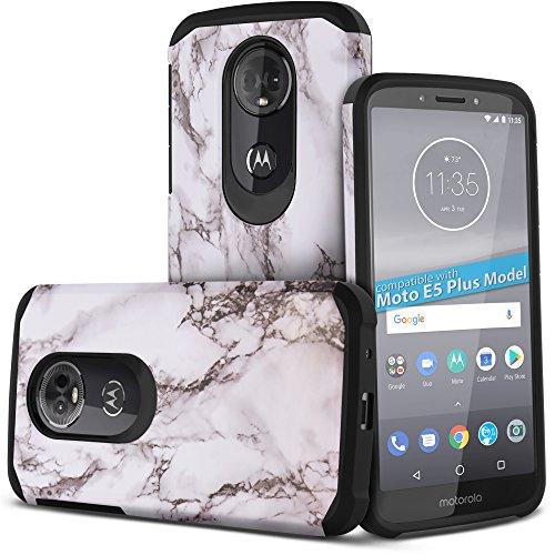 Celljoy Case compatible with Motorola Moto E5 Plus, Moto E5 Supra, Moto E Plus 5G [Liquid Armor Design] ((Shock Proof)) Tough Slim Protection [Hybrid TPU Skin/Hard Plastic Shell] (Glossy White ()