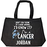 I'd Know It I'm A Cancer Woman Named Jordan Gift - Tote Bag With Zip