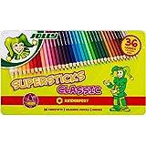 Jolly 3000-0334 'Supersticks' Buntstifte Classic, in Metalletui, mehrfarbig (36er Pack)