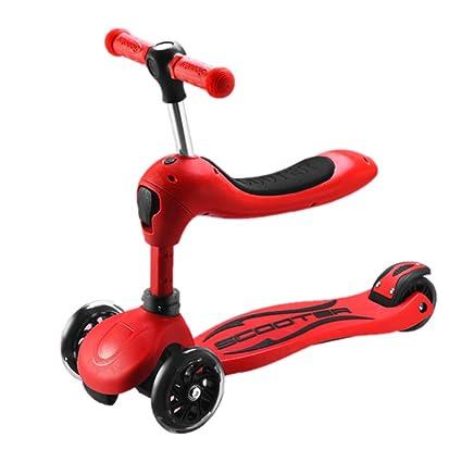 Patinetes Scooters Rojos con Asiento Ajustable para niñas ...
