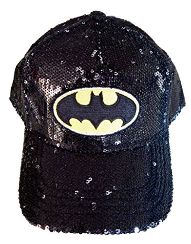 Price comparison product image DC Comics Youth Girls Batman Sequin Adjustable Baseball Hat
