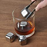 ACE-Whiskey-Stones-Rock-Your-Party-With-Stylish-Reusable-Stainless-Steel-Ice-Cubes-Chill-Your-Whiskey-Fast-Without-Dilution-Set-of-4-Metal-Wine-Accessories-Comes-In-Classy-EVA-Gift-Box