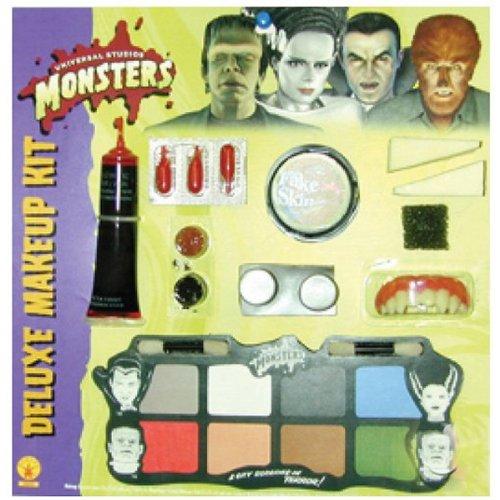 Deluxe Monster Makeup Kit Costume Accessory - Bride Of Frankenstein Makeup