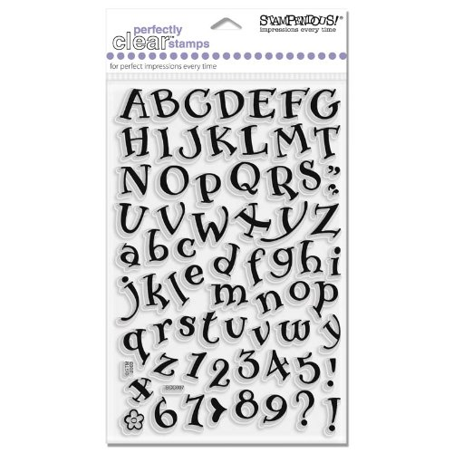 (STAMPENDOUS SSC007 Perfectly Clear Polymer Stamps, Storybook Alphabet)