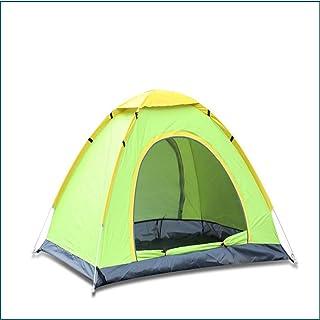 KCJMM Tente de Plage, Tente de Camping Ouverte en Plein air 3-4 Personnes Automatique Double Porte Main Respirante Jeter Tente de Protection Solaire antipluie