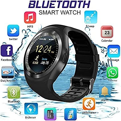 Amazon.com: MTOFAGF Y1 Round Bluetooth Support Nano SIM TF ...